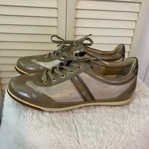 Ecco Women's EU 38 Golf Shoes Gold Leather Scales
